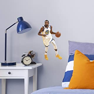 FATHEAD NBA Golden State Warriors Kevin Durant Kevin Durant- Officially Licensed Removable Wall Decal, Multicolor, Large - 1900-00306-005