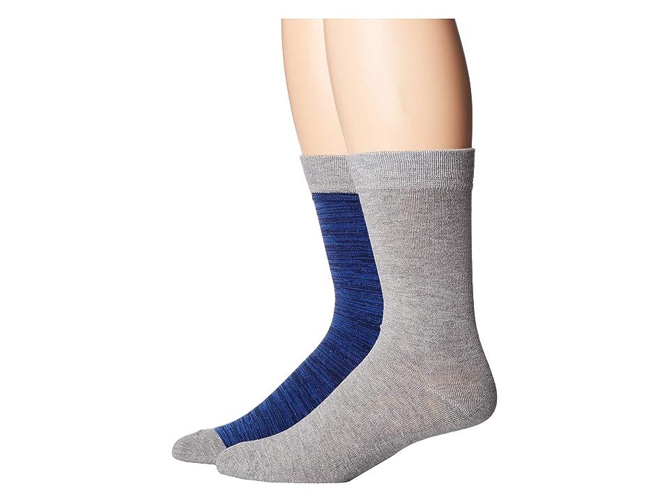 Image of 2(X)IST 2-Pack Dress Crew Socks (Blue/Grey) Men's Crew Cut Socks Shoes