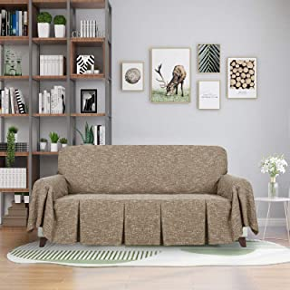 ZNSAYOTX 1 Piece Couch Throw Covers for 3 Cushion Couch...