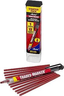 (1 Holder, 12 Red) - Markal 96132 Trades Marker (1 Holder, 12 Refills), Red