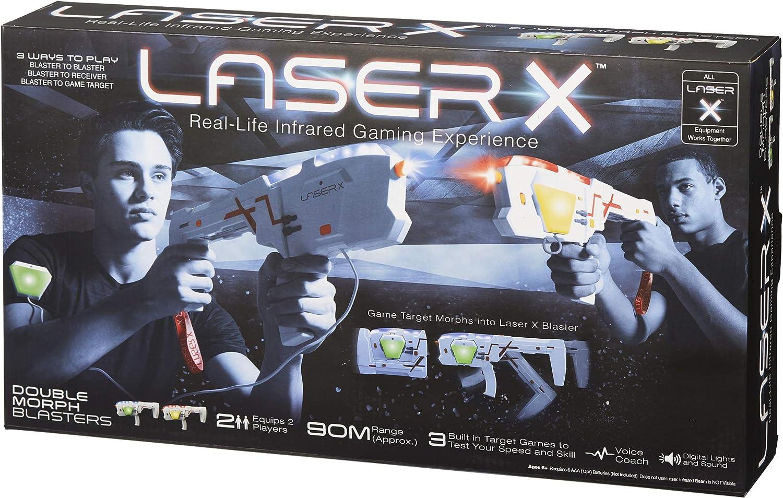 Laser X 88042 Morph Double Pack /& 88031 Long Range Blaster Game