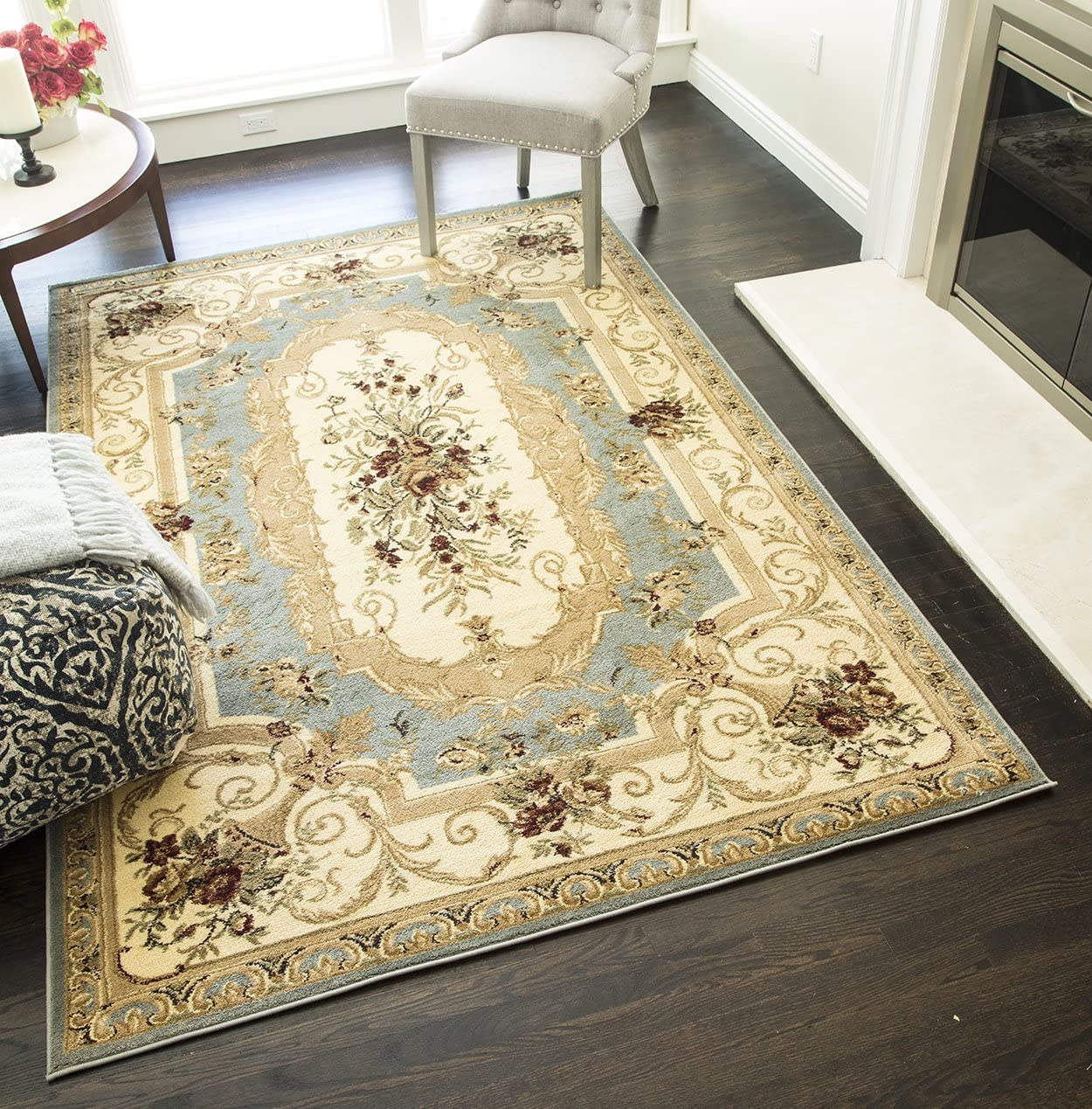 Rugs America security Sorrento Area Rug 5-Feet 3-Inch by 10-Inch NEW before selling 7-Feet