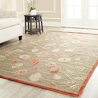 Safavieh Martha Stewart Collection MSR3627B Premium Wool and Viscose Poppy Glossary Cayenne Red Area Rug (9' x 12')