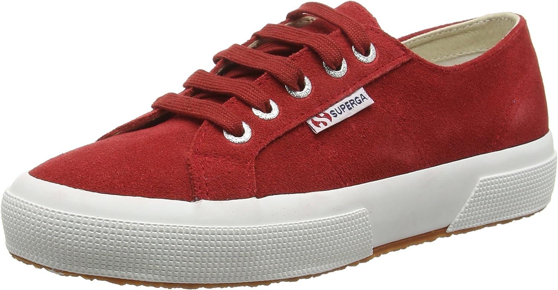 Superga Unisex Adults' 2750 Sueu Low-Top Sneakers, Red (104 Scarlet), 3.5 UK 36 EU