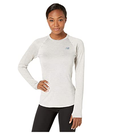 New Balance Impact Run Grid Crew (Sea Salt Heather) Women