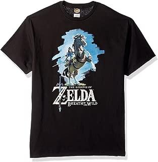Nintendo Men's Zelda Breath of The Wild Link Epona Posing T-Shirt