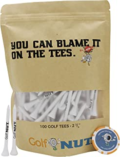 Sponsored Ad - Golf Nut 'Blame it On The Tees' Tee Pack | 100 2-3/4 Inch Tees with Bonus Poker Chip Ball Marker