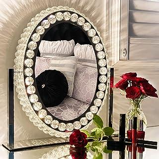DermAllura Hollywood Vanity Mirror with Lights - Crystal Makeup Mirror I Vanity Mirror I Lighted...