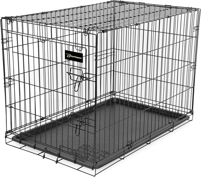 Ruff Maxx REM36C 36Inch L by 24Inch W by 26.5Inch H Wire Kennel, Large (Black)