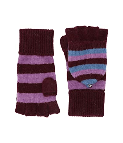 Kate Spade New York Heritage Stripe Pop Top Gloves (Midnight Wine) Gore-Tex Gloves