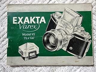 Exakta Varex Model XV User Manual ENGLISH Instructions for Using SLR Camera