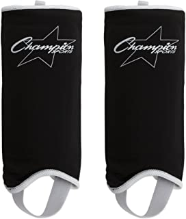 Champion Sports Lightweight Sock Type Hard Soccer Shin Guard - Adult and Youth Sizes