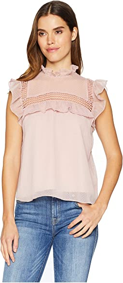 On Chiffon Swiss Dotted Top