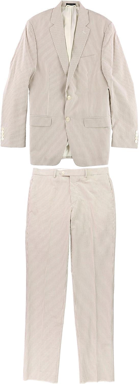 Ralph Lauren Mens Ultraflex Two Button Formal Suit, Beige, 40 Short / 34W x 36L