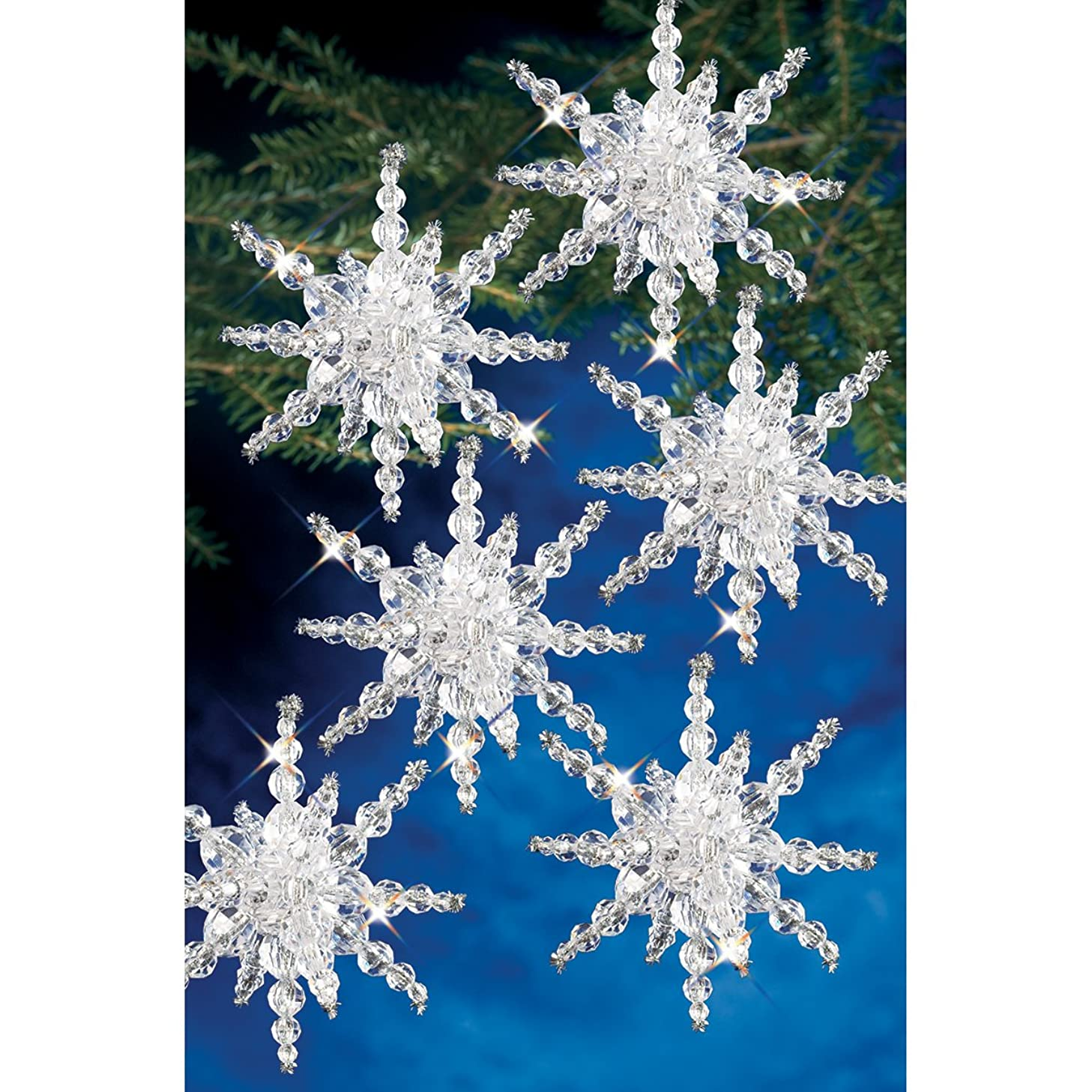 Beadery BOK-7282 Holiday Beaded Ornament Kit, Snow Cluster