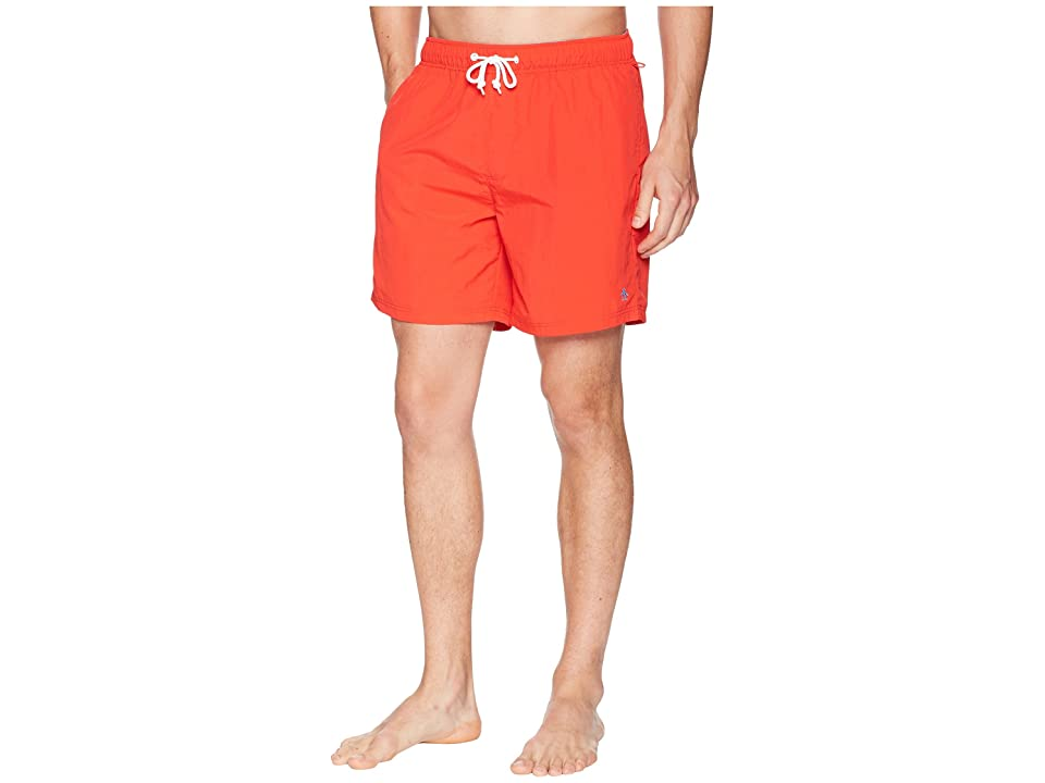 Original Penguin Daddy Swim Trunks (Flame Scarlet) Men