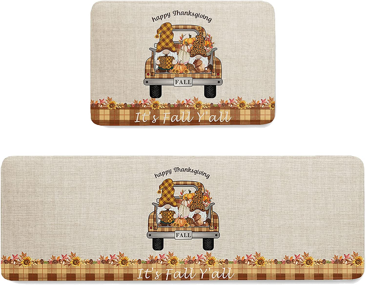 2 Pieces Doormats Non-Slip Kitchen Mats Than 2021new shipping free Rugs and Happy Beauty products Set