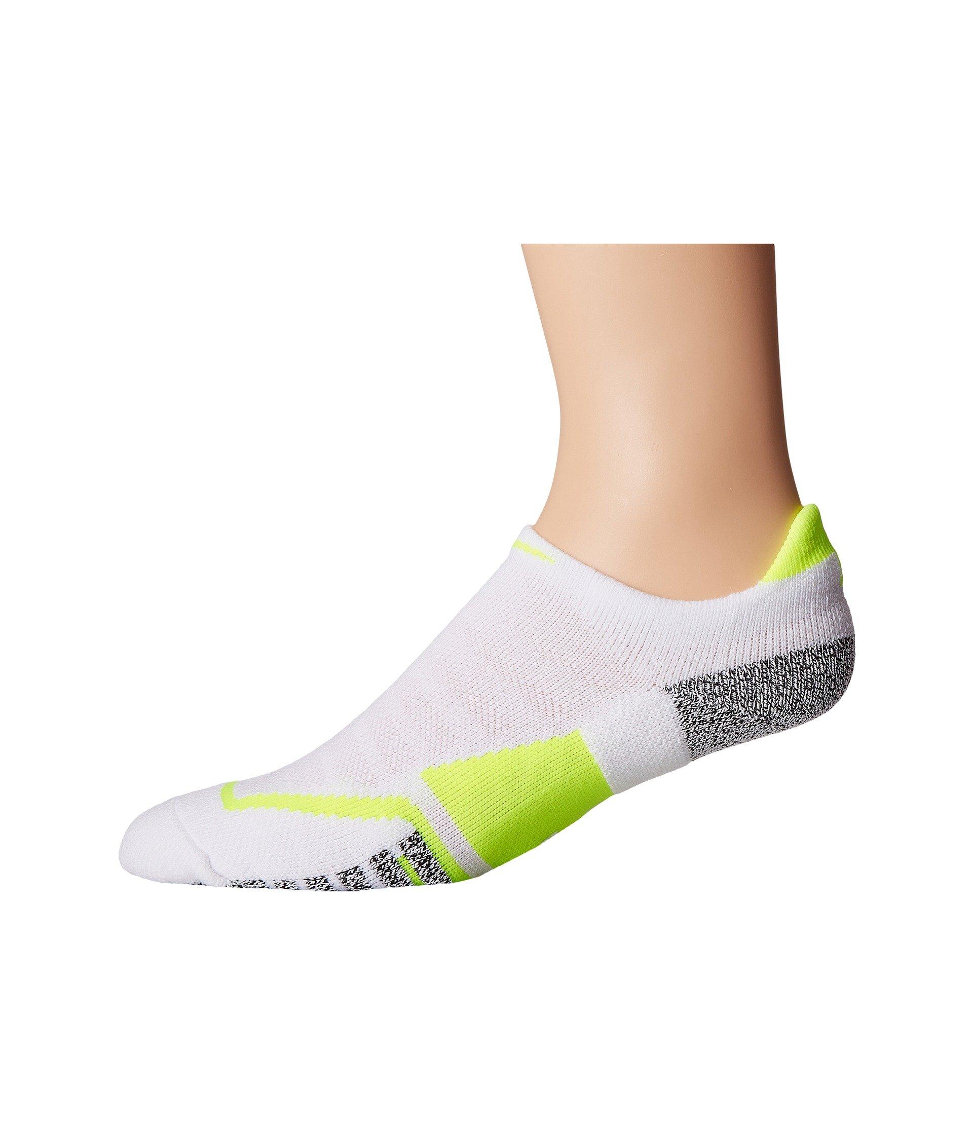 8dd4dc0da Nike Grip Elite No Show Tennis Socks, White/Volt/Volt | ModeSens