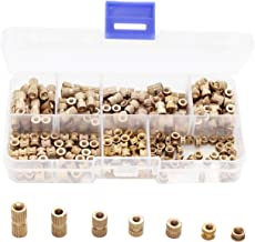 binifiMux 300pcs M3 Knurled Threaded Insert, Brass Female Embedment Nuts Assortment Kit for Laptop 3D Printer