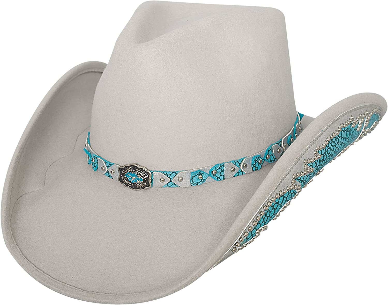 Bullhide  Natural Beauty Platinum Wool Felt Western Cowgirl Hat