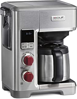 Wolf Gourmet Programmable Coffee Maker System with 10 Cup Thermal Carafe, Precision Technology, Accu-Brew, Built-In Grounds Scale (WGCM100S)