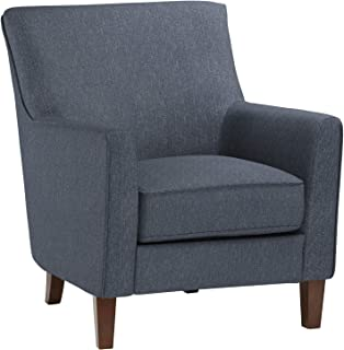 "Amazon Brand – Stone & Beam Cheyanne Modern Living Room Accent Arm Chair, 30.7""W, Blue"