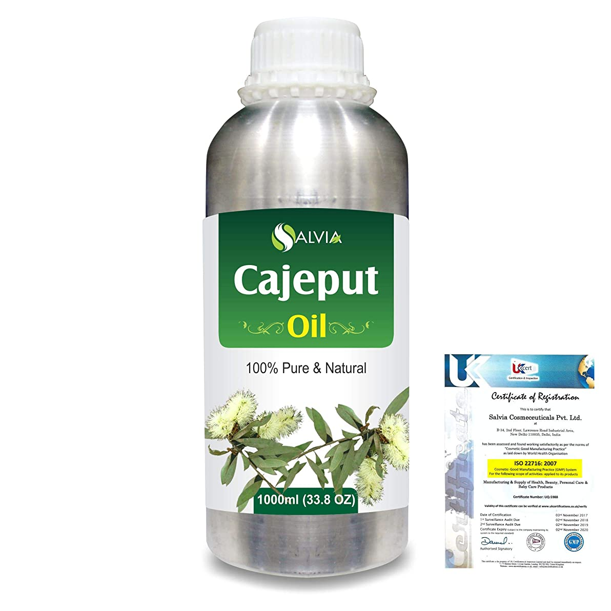 マネージャー匿名スキルCajeput (Melaleuca leucadendron) 100% Natural Pure Essential Oil 1000ml/33.8fl.oz.