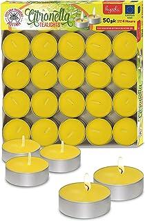 شمع های Tealight Citronella - شمع ضد پشه - سوختگی 4 ساعته - بسته 50 عددی - DEET رایگان