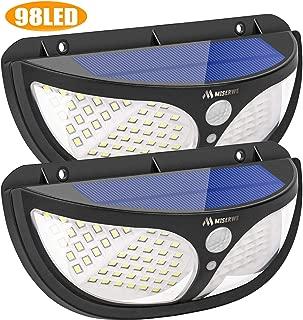 Miserwe Solar Lights Outdoor 98 Led Motion Sensor Lights with 3 Modes Security Lights for Patio/Front Door/Yard/Garagedeck(2 Pack)