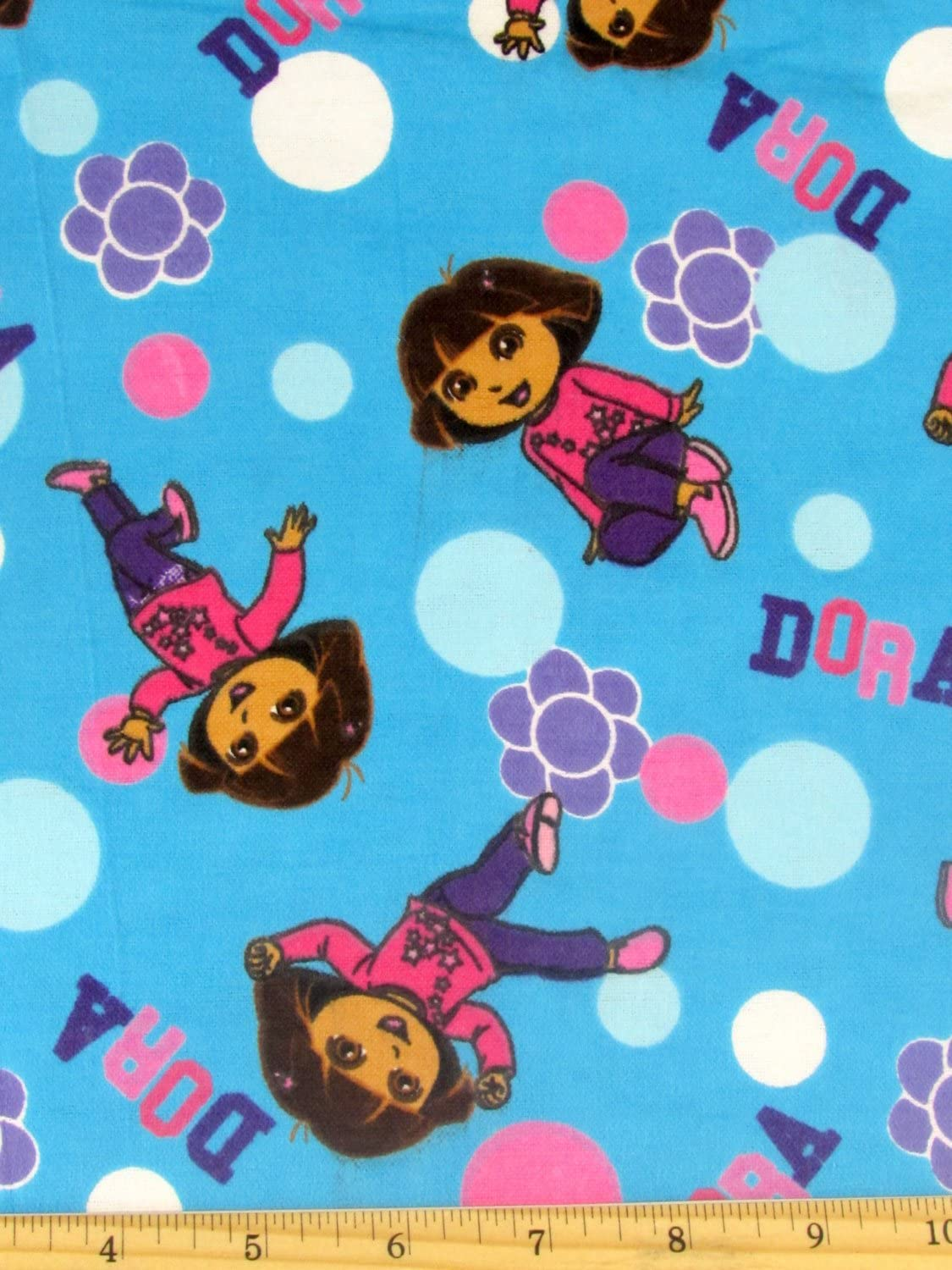Flannel Dora Floral Toss Cheap mail 2021new shipping free shipping order sales Fabric The by Yard Sold