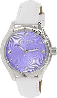 Nautica Women's N10507M Silver Leather Quartz Watch