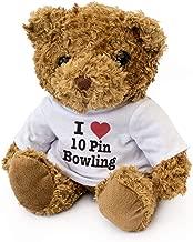 I Love 10 PIN Bowling - Teddy Bear - Cute Soft Cuddly - Gift Present Birthday Xmas