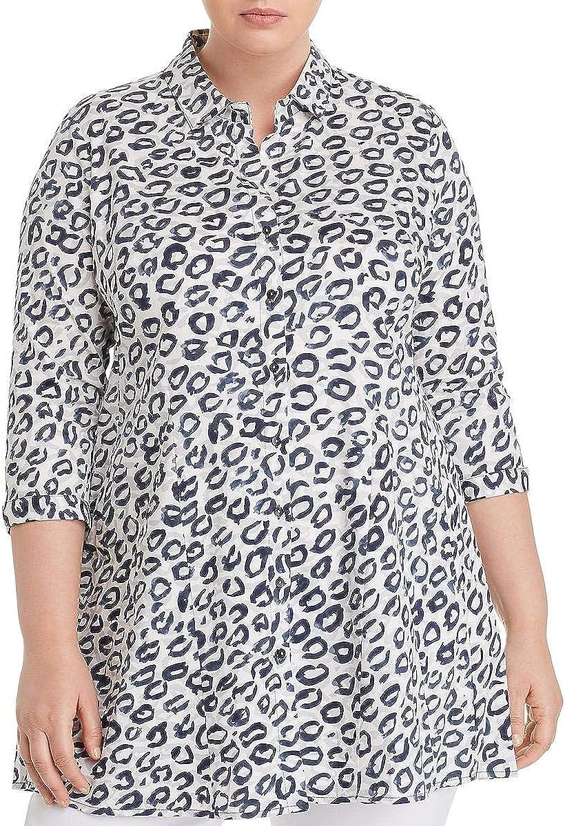 Gifts NIC+ZOE Large-scale sale Women's Leopard Jacket Kisses Shirt