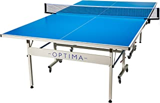 Franklin Sports Optima All-Weather Outdoor Table Tennis Table – Quality Built Table – Easy Install Pro Table Tennis Net – Outdoor Weather Ready Folding Table Tennis Table