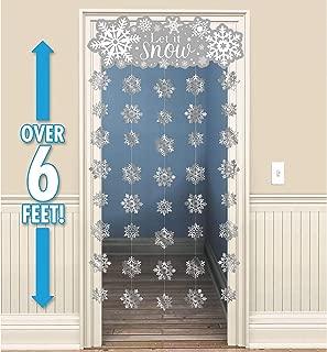 amscan Let it Snow Snowflake Doorway Curtain | Christmas Decoration