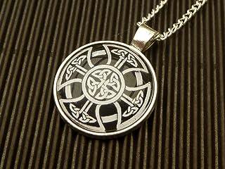 Collana Irlanda con croce celtica in argento nero
