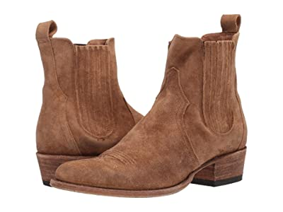 Frye Grady Chelsea (Faded Brown Distressed Suede) Men