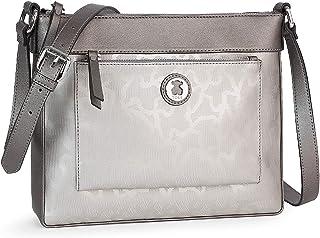Bandolera Kaos Shiny en color plata (595890383) TOUS