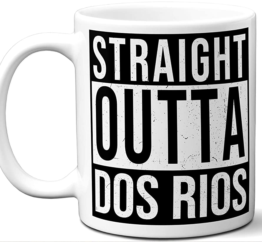 Gift Mug For El Diablo comics series Fan. Straight Outta Dos Rios. Funny Him Her Coffee Tea Women Men Birthday Christmas Fathers Day Mothers Day.