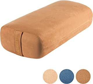 Nolavea Yoga Bolster Pillow for Yoga Practice, Meditation, and Support - Imitation Suede Rectangular Floor Cushion - Washa...