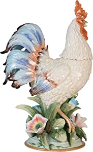 Fitz and Floyd Toulouse Rooster Figurine, 19.5-Inch, Multiolor