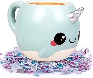 Narwhal, Unicorn of the Sea Coffee Mug - 18 oz Glitter Galaxy - Nizzle the Narwhal (Оne Расk)