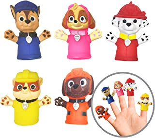 Best Nickelodeon Paw Patrol Finger Puppets - Party Favors, Educational, Bath Toys Review