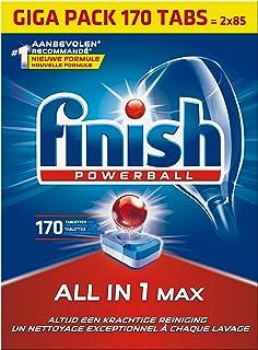 Finish All in 1 Max Regular Vaatwastabletten - 170 Stuks - Voor Prachtig Schone en Glanzende Vaat