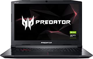 "Acer Predator Helios 300 PH317-52-77A4 Gaming Laptop, Intel Core i7-8750H, GeForce GTX 1060 Overclockable Graphics, 17.3"" 144Hz Full HD, 16GB DDR4, 256GB PCIe NVMe SSD, 1TB HDD, VR Ready"