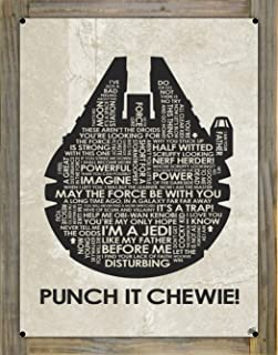 Northwest Art Mall Punch IT Chewie! Metal Print on Reclaimed Barn Wood by Stephen Poon (18