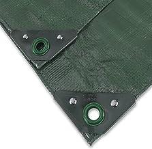 Geweven zeil Profi 140 g/m 6 x 8 m groen
