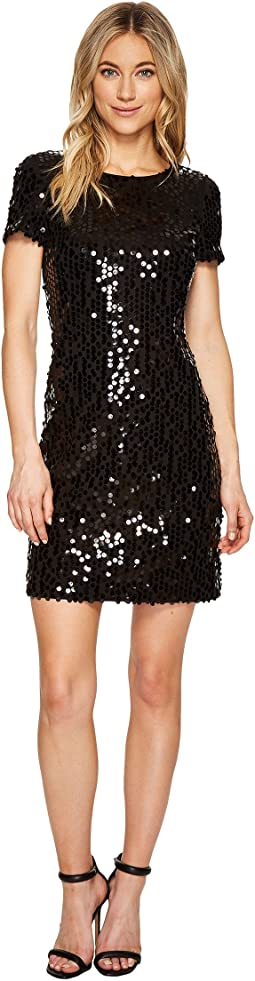 Sequin Short Sleeve Sheath Dress CD7A24BC