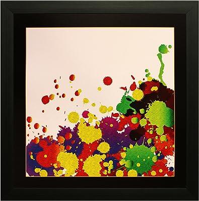 SAF Textured Print with UV Framed Reprint Painting (SANFO587, 35 cm x 3 cm x 35 cm) SANFO587