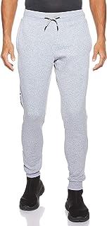 Under Armour Men's Rival Fleece Wordmark Logo Jogger Pants, Grey (Steel Light Heather/Black), Medium